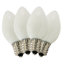Replacement Ceramic White C7 Stringlight Bulbs