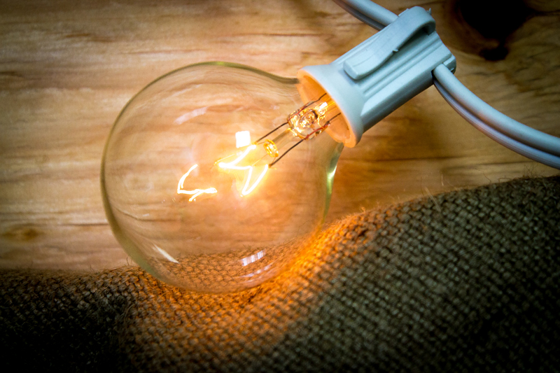 clear G50 globe light bulb