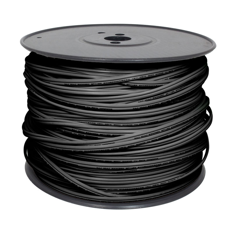 500 ft. Black X-Wire 18-Gauge SPT-2 Wire