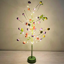 "24"" Easter Egg Lighted Tree - 50 Warm White Micro Lights GC2465390 - View in Store"