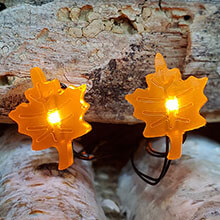 Autumn Leaves LED Micro String Lights - Battery Operated