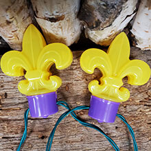 Battery Operated Fleur De Lis Party String Lights - 10 Lights
