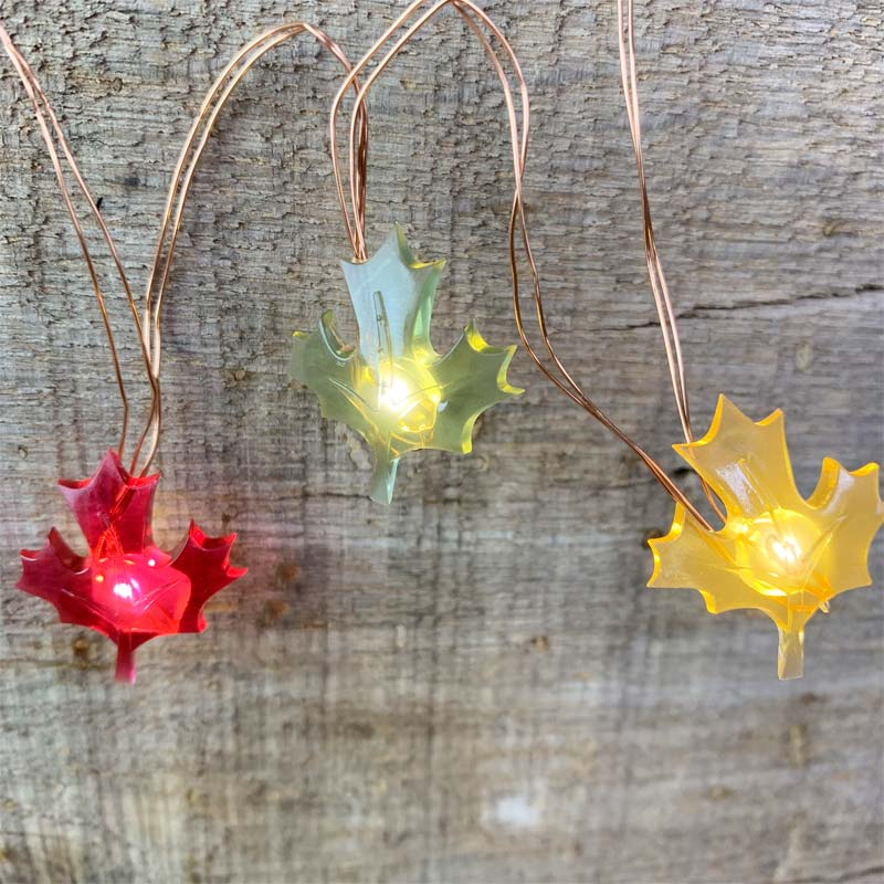 Colored Leaves LED Micro String Lights DR-30078848