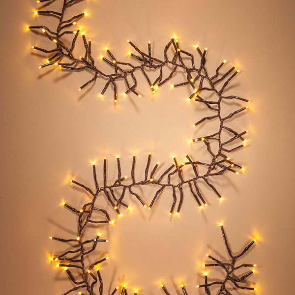Warm White LED Garland Lights - 6 ft. Brown Wire GC2281680