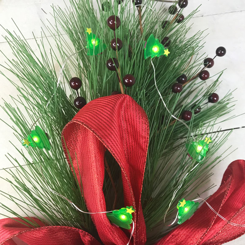 christmas tree led micro string lights battery operated - Battery Operated Christmas Trees