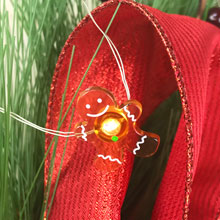 Gingerbread Man LED Micro String Lights - Battery Operated DE-70318GINGER