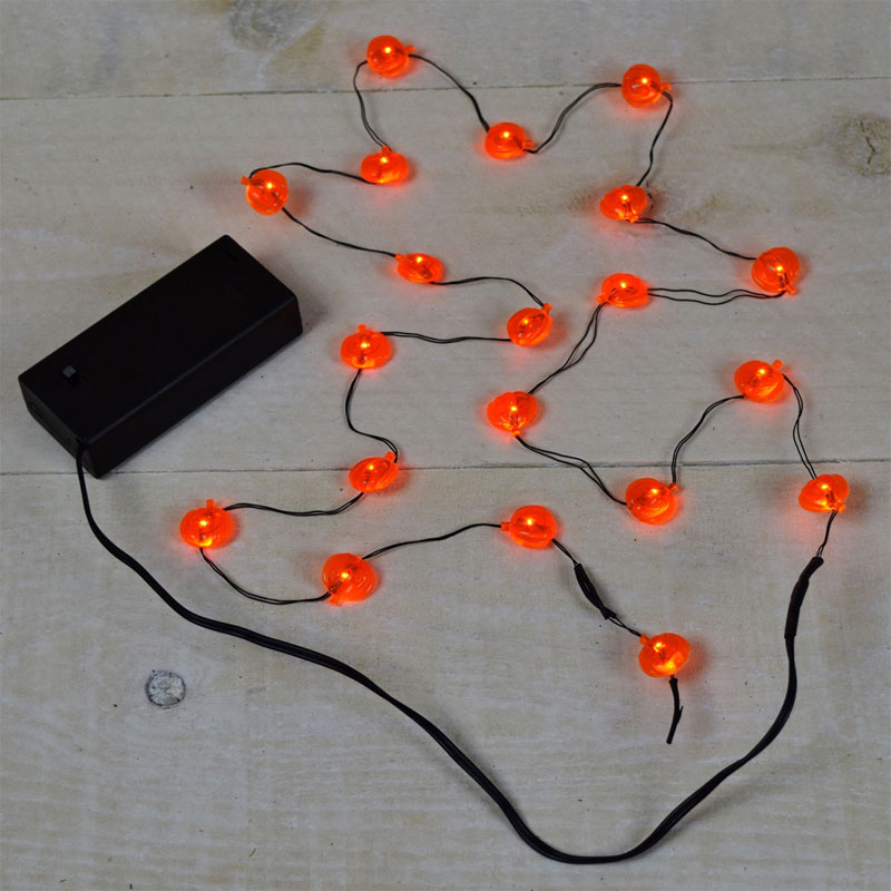 Led Pumpkin Battery Operated Party String Lights