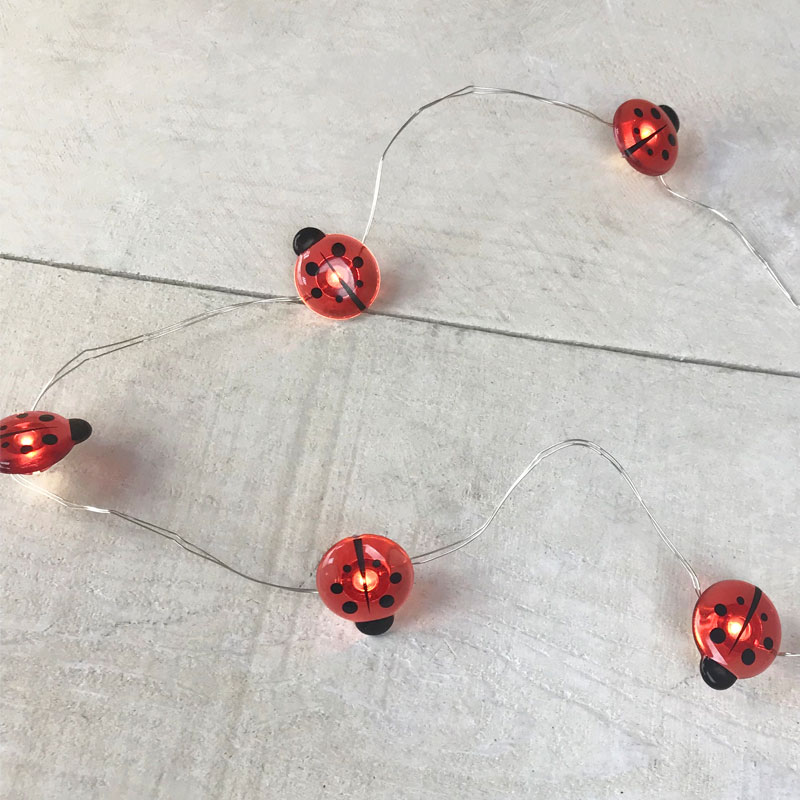 Ladybug LED Micro String Lights - Battery Operated DE-70381LBUG