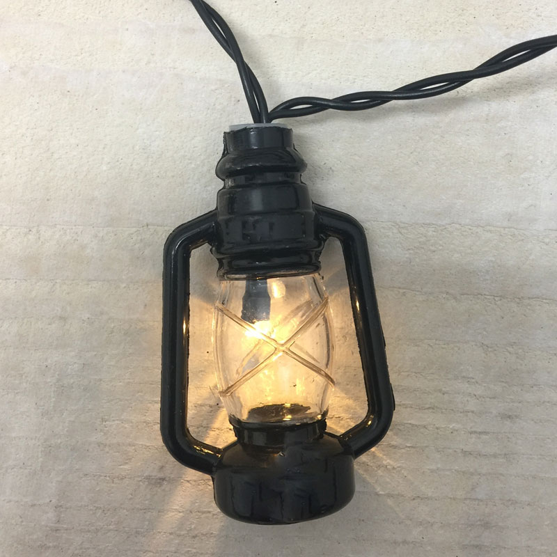 Black Lantern Led String Lights Battery Operated
