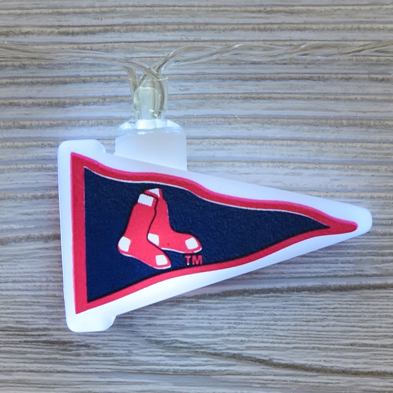 MLB Boston Red Sox LED Pennant String Lights - Battery Operated TP-MLB/REDSOX