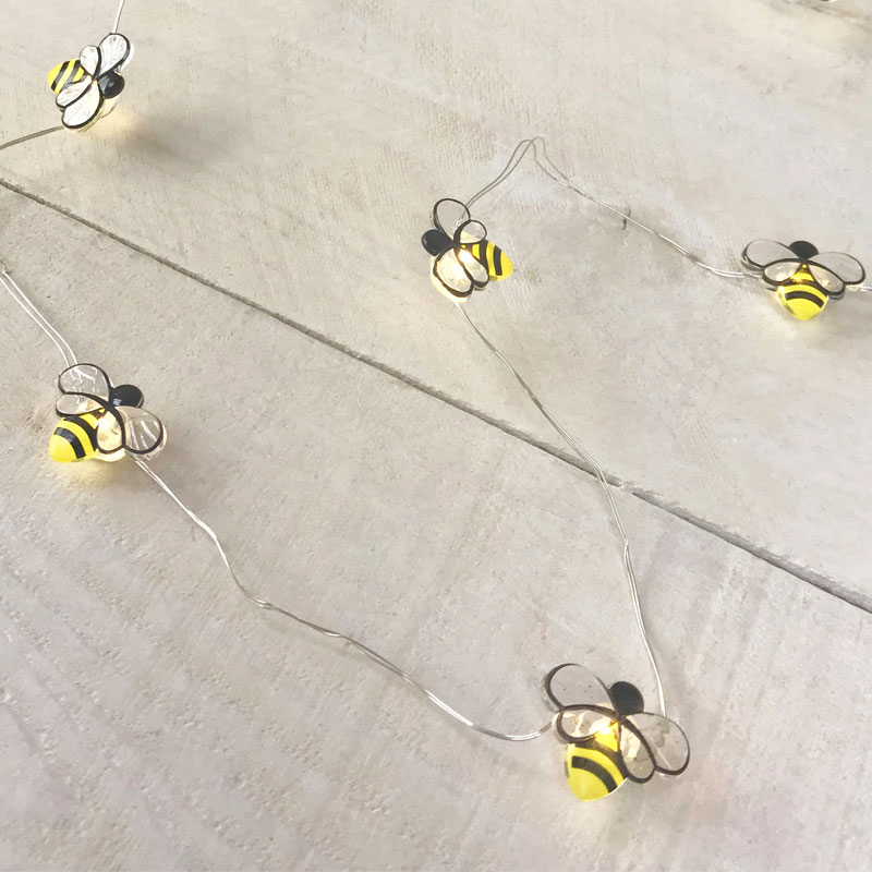 Bumble Bee LED Micro String Lights - Battery Operated DE-70381BEE