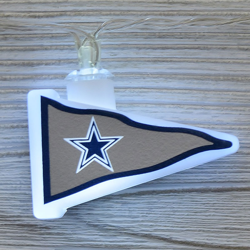 NFL Dallas Cowboys LED Pennant Lights - Battery Operated