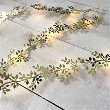 Gold Leaf Garland Light - 10 ft. GC2440570
