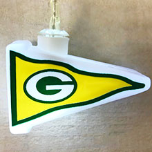 NFL Green Bay Packers LED Pennant String Lights - Battery Operated TP-NFL/PACKERS