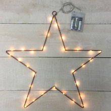 Battery Operated LED Metal Star Light
