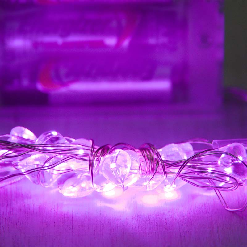 Pink Heart Led Micro String Lights