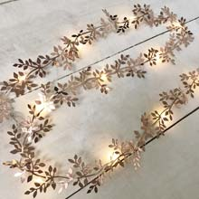 Rose Gold Leaf Garland Light - 10 ft. GC2440560