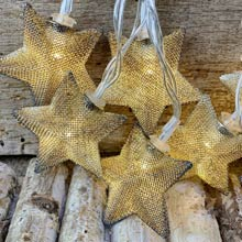 Mesh Star LED String Lights - Battery Operated - 10 Lights