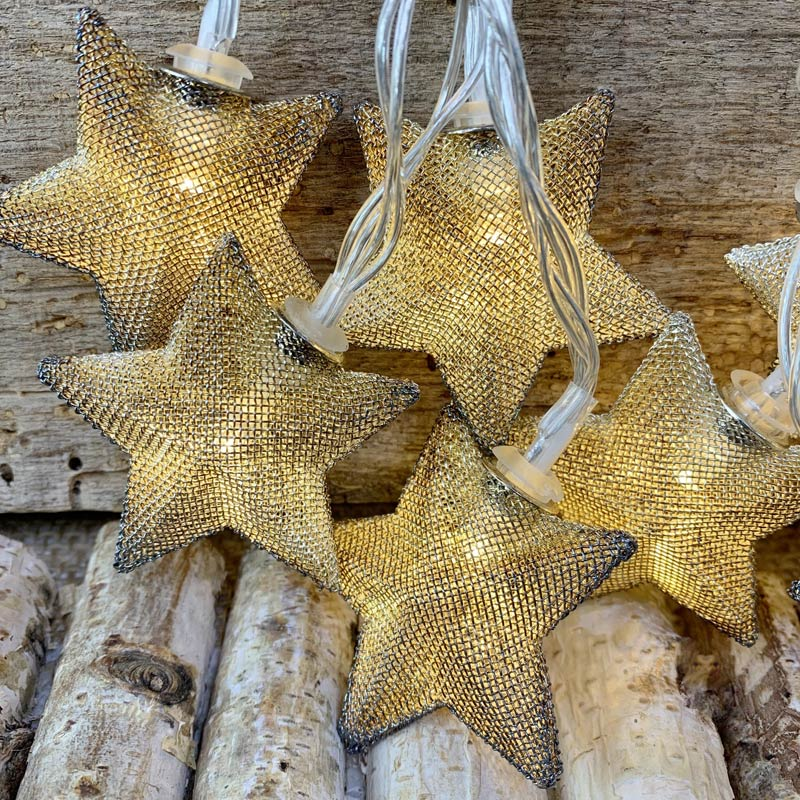 Mesh Star Led String Lights Battery Operated 10