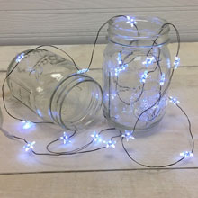 White Star LED Ultra Thin Wire String Lights - Battery Operated