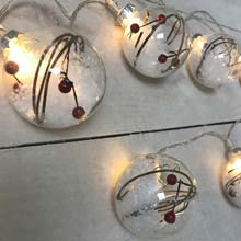 Snowberry Ornament Party String Lights DE-80594