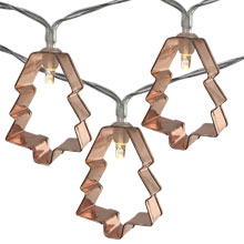 Cookie Cutter Tree Party String Lights - Battery Operated - 10 Lights DE-80031T