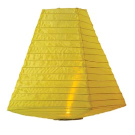 Battery Operated Nylon Trapezoid Shade Lantern - Yellow - 11