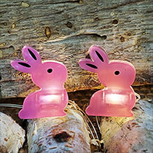 20 LED Fairy Light Pink Bunny – Battery Operated