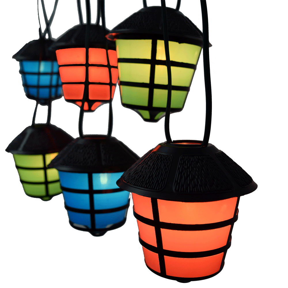 Outdoor Party Lights Clipart: C7 RV Lantern String Lights