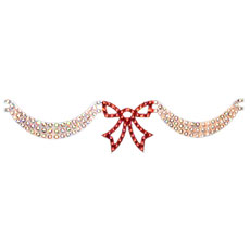 Christmas Swags & Bow Party Light - 160 Lights - Red / Silver