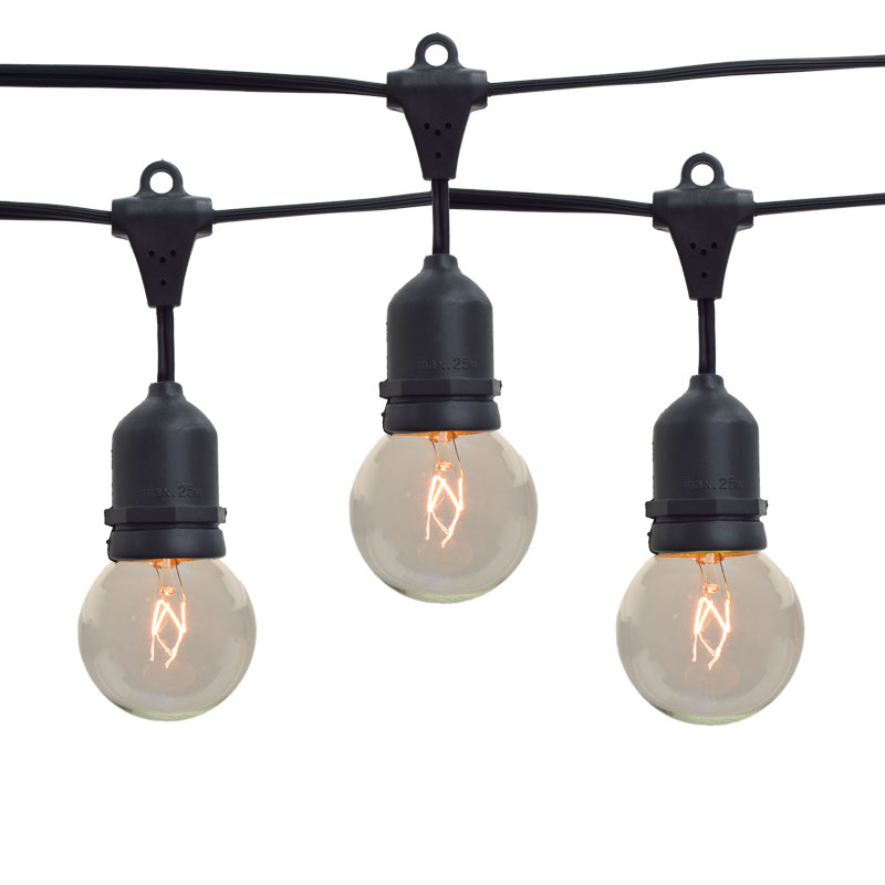 Commercial Lighting Bulbs: Globe Outdoor String Lights