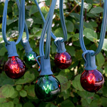 50' C7 Red & Green Globe String Light Strand