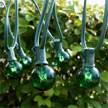 25' C7 Light Strand Kit, Green - Candelabra Base