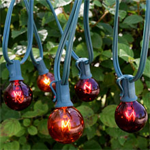 25' C7 Red/Amber Globe String Light Strand