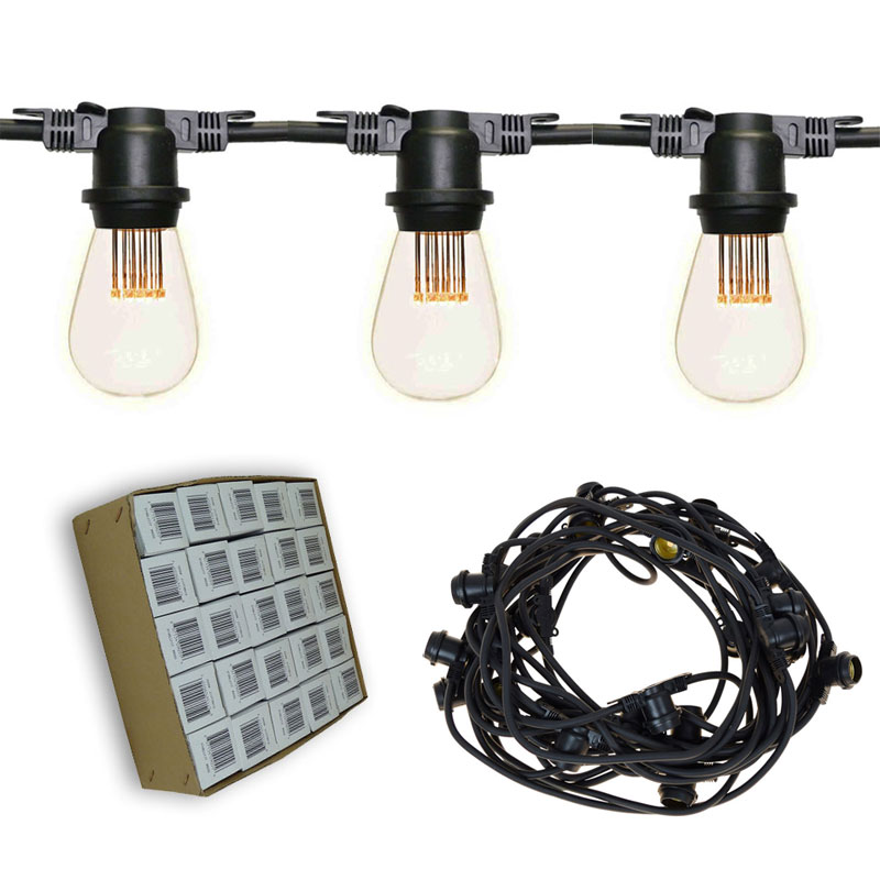 48' Vintage LED Light Strand Kit - Black