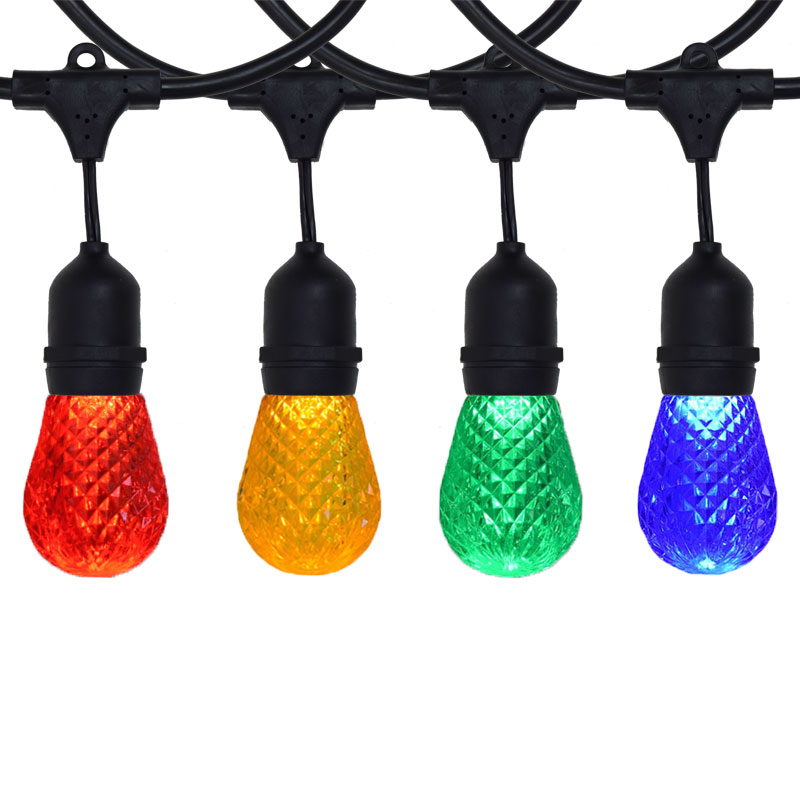 100 ft Suspended Multi-Color LED Commercial Light Strand Kit