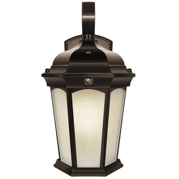 Integrated LED Lantern Fixture - Frosted Glass Lens EFL-130F-MD