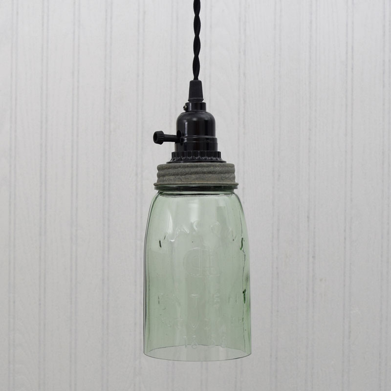 Superieur Quart Open Bottom Mason Jar Pendant Lamp   Barn Roof