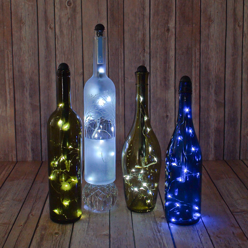Light My Bottle Wine Bottle Stopper Fairy Lights Awesome Decorative Glass Bottles With Stoppers