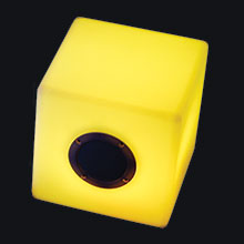 "Music Box 6 Bluetooth Speaker with Color Changing LED Exterior - 6"" Cube  PIC-MBOX6"