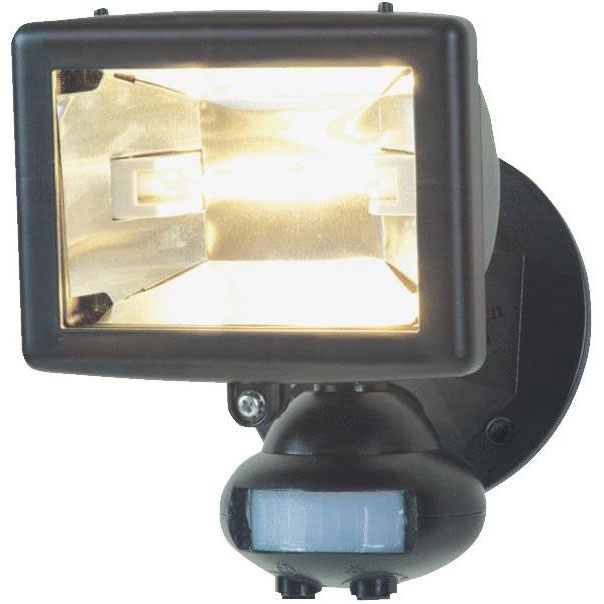 Black Motion Quartz Security Floodlight