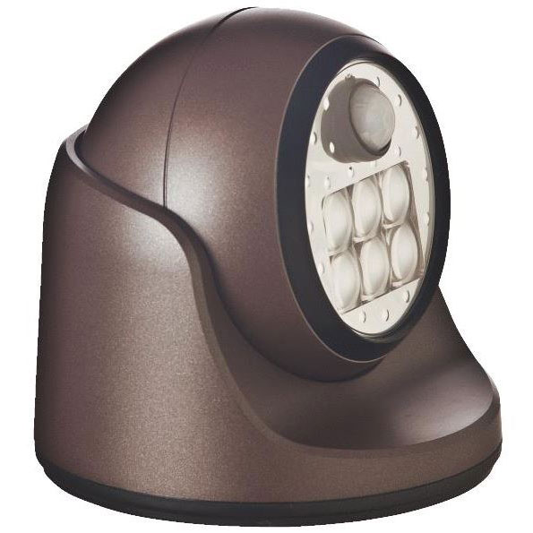 6 LED Porch Motion Flood Light - Bronze