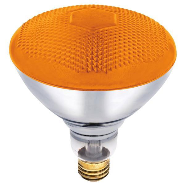 100 Watt PAR38 Amber Floodlight Bulb