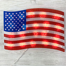 Patriotic Flag Window Decoration PD-7240Y111