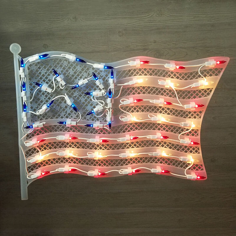 American Flag Window Light HOF-1546FL