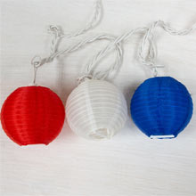 Nylon Patriotic Lantern String Lights PD-724F6113