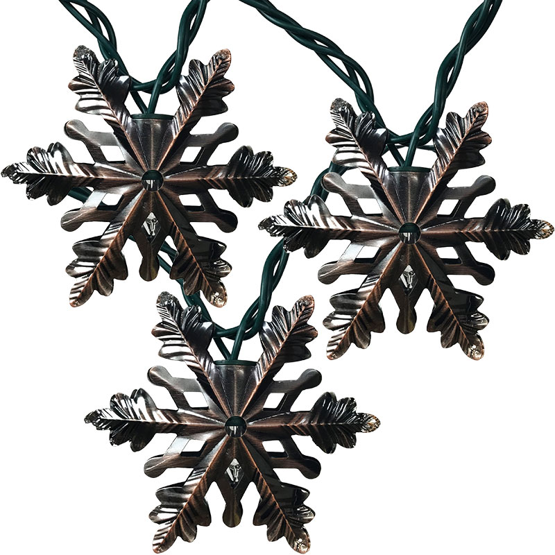 Copper Snowflake String Lights - 10 Lights GC2366630