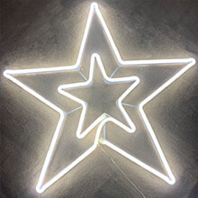 324L LED Double Star Sculpture PD-NT404912