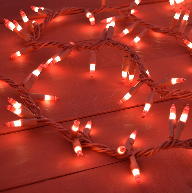 Red White Valentines Day String Lights 150 Lights