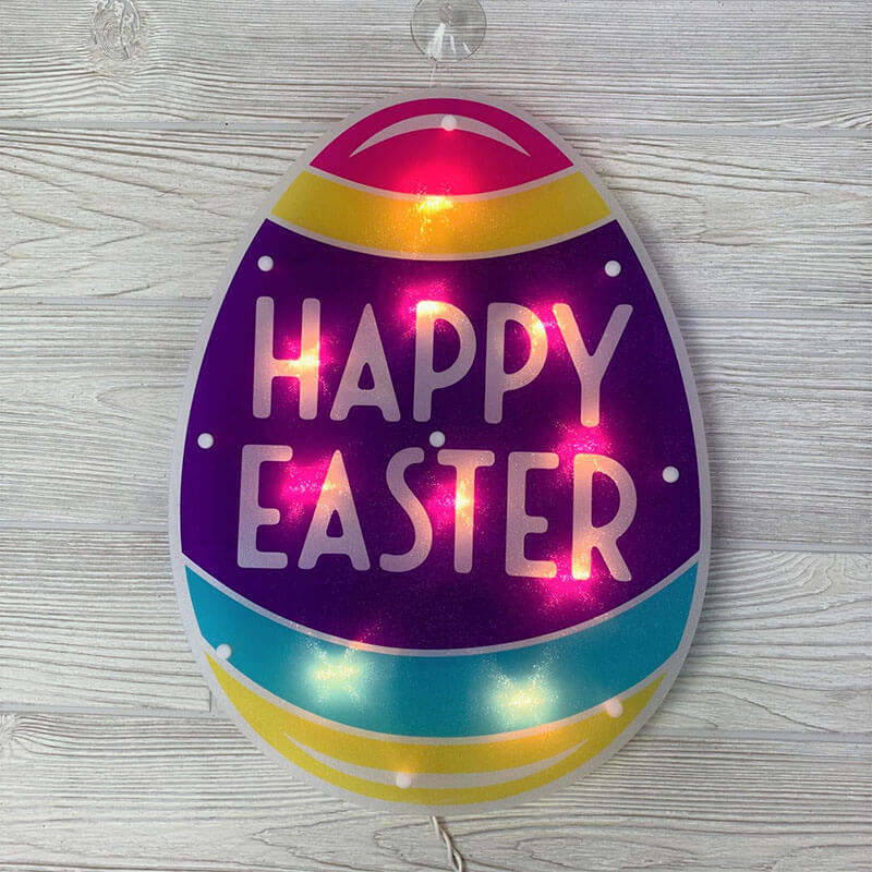 Happy Easter Shimmer Wall Art PD-39567